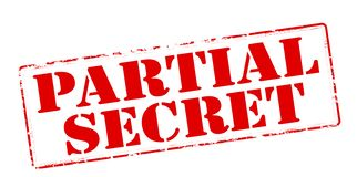 Partial secret. Rubber stamp with text partial secret inside,  illustration Royalty Free Stock Photo