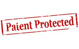 Patent protected. Rubber stamp with text patent protected inside,  illustration Stock Images