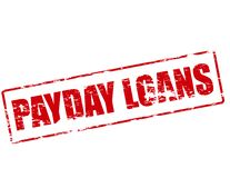 Payday loans. Rubber stamp with text payday loans inside,  illustration Royalty Free Stock Photos
