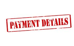 Payment details. Rubber stamp with text payment details inside, illustration royalty free illustration