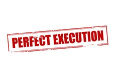 Perfect execution. Rubber stamp with text perfect execution inside,  illustration Royalty Free Stock Images