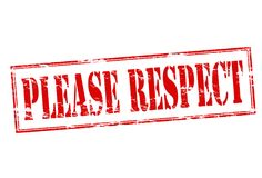 Please respect. Rubber stamp with text please respect inside,  illustration Stock Photos