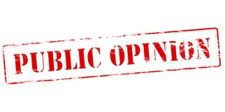 Public opinion. Rubber stamp with text public opinion inside,  illustration Stock Photo