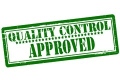 Quality control approved. Rubber stamp with text quality control approved inside,  illustration Royalty Free Stock Images