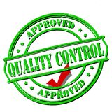 Quality control. Rubber stamp with text quality control inside,  illustration Royalty Free Stock Photography