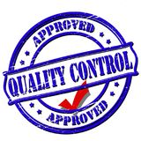 Quality control. Rubber stamp with text quality control inside,  illustration Stock Photos