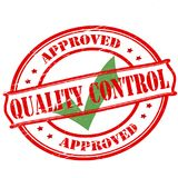 Quality control. Rubber stamp with text quality control inside,  illustration Royalty Free Stock Image