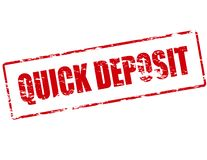 Quick deposit. Rubber stamp with text quick deposit inside,  illustration Stock Photography
