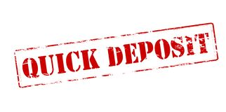 Quick deposit. Rubber stamp with text quick deposit inside,  illustration Stock Photos