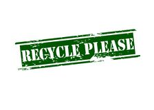 Recycle please Stock Photography