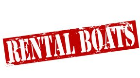 Rental boats. Rubber stamp with text rental boats inside,  illustration Royalty Free Stock Image