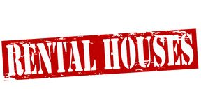 Rental houses. Rubber stamp with text rental houses inside,  illustration Stock Photography