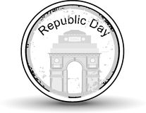 Rubber stamp with text Republic day. Royalty Free Stock Photos