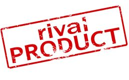 Rival product. Rubber stamp with text rival product inside,  illustration Royalty Free Stock Photography