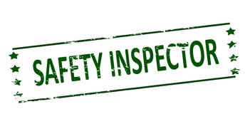 Safety inspector. Rubber stamp with text safety inspector inside,  illustration Stock Photo
