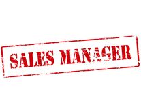 Sales manager. Rubber stamp with text sales manager inside,  illustration Royalty Free Stock Images