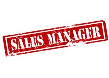 Sales manager. Rubber stamp with text sales manager inside,  illustration Royalty Free Stock Photos