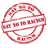 Say no to racism. Rubber stamp with text say no to racism inside,  illustration Stock Image