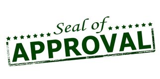 Seal of approval. Rubber stamp with text seal of approval inside, illustration stock illustration