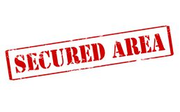 Secured area. Rubber stamp with text secured area inside, illustration royalty free illustration