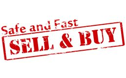 Sell and buy. Rubber stamp with text sell and buy inside,  illustration Royalty Free Stock Image