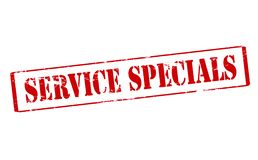 Service specials. Rubber stamp with text service specials inside,  illustration Stock Photography