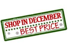 Shop in December. Rubber stamp with text shop in December inside, illustration Royalty Free Illustration