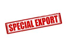 Special export. Rubber stamp with text special export inside,  illustration Royalty Free Stock Photos