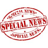 Special news. Rubber stamp with text special news inside,  illustration Stock Images