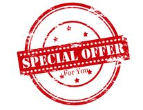 Special offer for you. Rubber stamp with text special offer for you inside,  illustration Royalty Free Stock Image