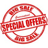 Special offers. Rubber stamp with text special offers inside,  illustration Royalty Free Stock Images