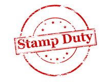 Stamp duty. Rubber stamp with text stamp duty inside,  illustration Stock Photo