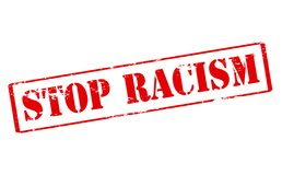 Stop racism. Rubber stamp with text stop racism inside,  illustration Stock Photo
