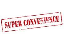 Super convenience. Rubber stamp with text super convenience inside, illustration stock illustration