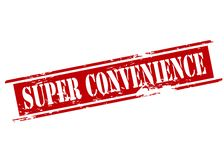 Super convenience. Rubber stamp with text super convenience inside,  illustration Stock Image