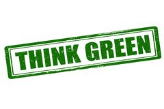 Think green. Rubber stamp with text think green inside,  illustration Stock Photography