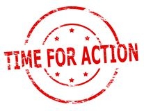 Time for action. Rubber stamp with text time for action inside,  illustration Stock Photos