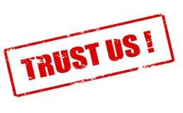 Trust us Royalty Free Stock Photos