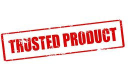 Trusted product royalty free stock image