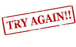 Try again. Rubber stamp with text try again inside,  illustration Stock Photography