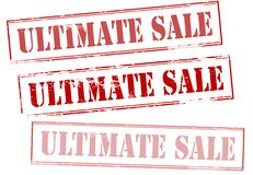 Ultimate sale. Rubber stamp with text ultimate sale inside,  illustration Stock Images