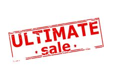 Ultimate sale. Rubber stamp with text ultimate sale inside,  illustration Royalty Free Stock Photo