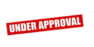 Under approval. Rubber stamp with text under approval inside, vector illustration Stock Photo