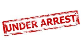 Under arrest. Rubber stamp with text under arrest inside, illustration vector illustration