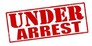 Under arrest. Rubber stamp with text under arrest inside, illustration royalty free illustration