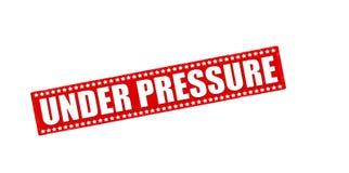 Under pressure. Rubber stamp with text under pressure inside,  illustration Stock Images