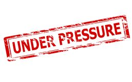 Under pressure. Rubber stamp with text under pressure inside,  illustration Stock Photography