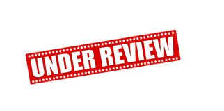 Under review Royalty Free Stock Photo