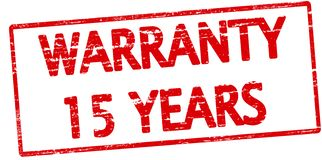 Warranty fifteen years. Rubber stamp with text warranty fifteen years inside,  illustration Royalty Free Stock Images