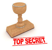Rubber stamp - top secret Royalty Free Stock Photography